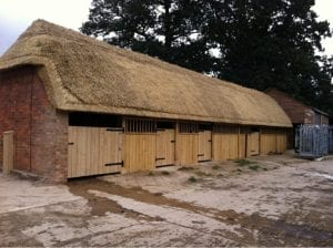 Long Straw thatched stable in shipston-on-stour, Warwickshire