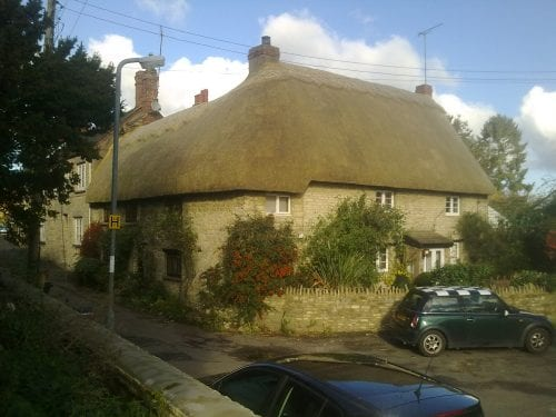 New thatch in Brackley, Northamptonshire